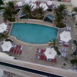 View of the pool from my room (2217)