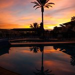Taken at dawn overlooking the pool and pool bar....