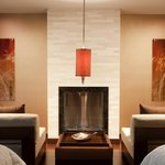 Spa Couples Fireplace Seating