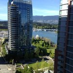 View of Stanley Park from balcony