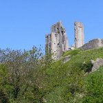 Corfe Castle, you can see it from the house