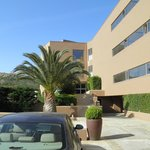 Aegeon Hotel in Sounio, car parking