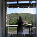 Aegeon Hotel in Sounio, view from our room to Poseidon Temple