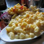 Macaroni cheese at the Drovers Inn