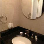 Bathroom mirror and sink