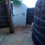 Our outdoor shower......a must.