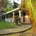 Typical cabana at Petite Anse