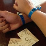 wrist tags to identify Iberostar Tainos guests and towel cards