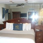 Master bed in suite