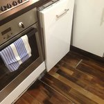 unstable floating floor and mis- fitted dishwasher