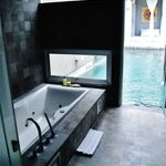 Bathroom to the swimming pool