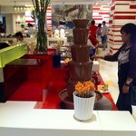 chocolate fountain during a buffet breakfast!
