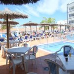 Pool and sunbeds