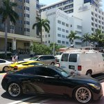 Collins Avenue, Sagamore hotel & some cars passing by ....