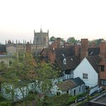 The view of Stratford-upon-Avon from my third-floor room.