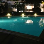 night time at pool