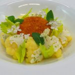 Cod, Parmesan, Textures Of Cauliflower & Madras Curry