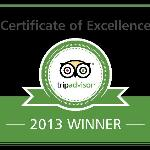 2013 Certificate of Excellence Award Winner