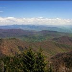 View from parking lot at Clingman's Dome