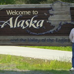 Husband At Haines Alaska Sign
