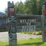 Welcome sign at Haines