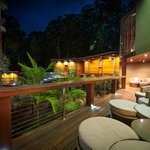 Spa Sanctuary outdoor deck