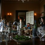 A family lunch in the Dining Room at Ballyvolane House
