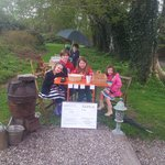 Our daughters helping the owner's children with an Open Garden Day in the garden
