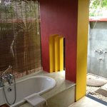 Deluxe Luxury Villa bathroom tub and outside shower