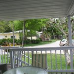 Side view from porch of 25/26 looking towards the lobby (close to coffee and scones in the morni