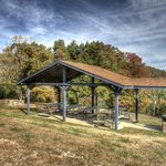 Covered picnic area & grill for up to 50 people