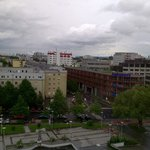Downtown Linz from my room on the 5th floor