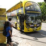 Yellow touribus at Plaza San Martin - 3 blocks away!