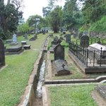 A view of Kandy Garrison Cemetery - showing drainage channels