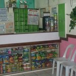 Lobby area with snacks and toiletries for sale