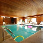 Our indoor heated pool is a great place to relax.