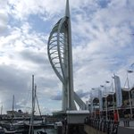 Spinaker tower and quayside
