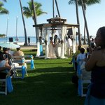 Wedding gazebo by the beach