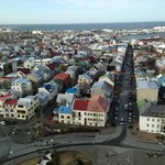 One of the views of Reykjavik from the top of the church.