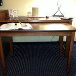 Pull out table from desk - totally portable, too!