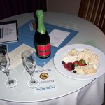 Champagne & Cheese plate included with our room package