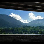A view from the roof of the Schwarzer Adler Spa hotel in Kitzbuhel