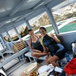 Lunch on the boat in between dives.