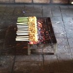 Cooking over hot coals