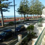 View from balcony of Marine Parade