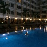 night swim in pool