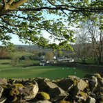 Village of Near Sawrey from footpath