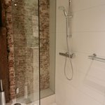 Great shower - lovely exposed brickwork