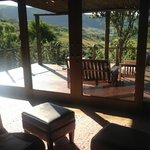 the balcony of room 4 at Karkloof Safari Spa.