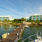 View of the resort from the dive boat dock